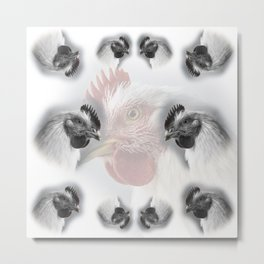 Pattern of domestic chickens Metal Print