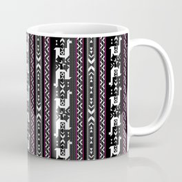 Llamas_Fuchsia stripes Coffee Mug