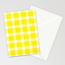 Plaid Canary Yellow Stationery Cards