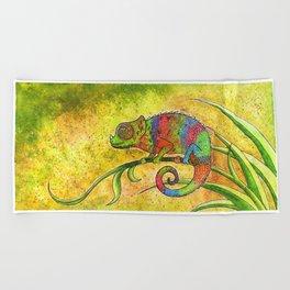 Chameleon  Beach Towel