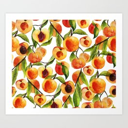 Passionate for peaches Art Print