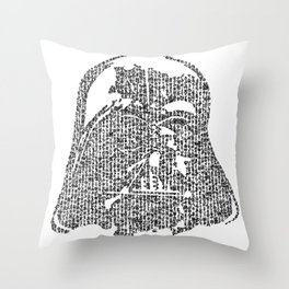 Kanji calligraphy art :dark side Throw Pillow