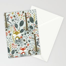 Rustic  Woodland Animals Stationery Cards