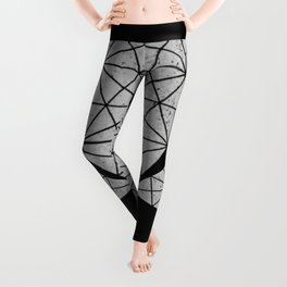 gray triangles Leggings