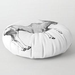 Bull Moose - Pen and Ink Floor Pillow