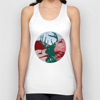 merry christmas Tank Tops featuring merry christmas by mark ashkenazi