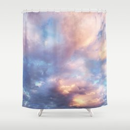 Sunset | Pink Clouds | Sky | Rainbow | Unicorn Colours | Nature Shower Curtain