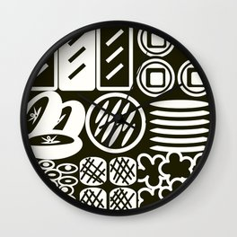 Jubako No3 Monochrome Wall Clock