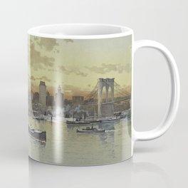 Vintage Pictorial View of NYC (1896) Coffee Mug