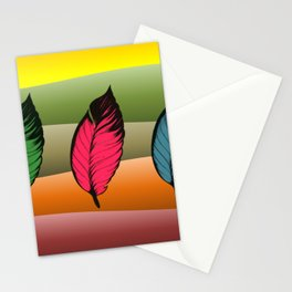 Dancing Fall Leaves Stationery Cards