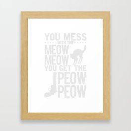 Miau Katze Katzenliebhaber Geschenk Framed Art Print