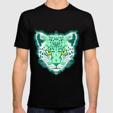 Emerald Leopard  SMALL Black Mens Fitted Tee