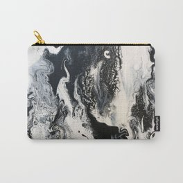 Black and White Marble Carry-All Pouch