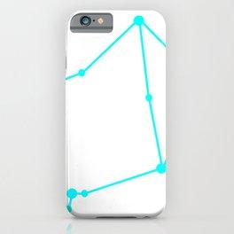 Libra (Cyan & White) iPhone Case