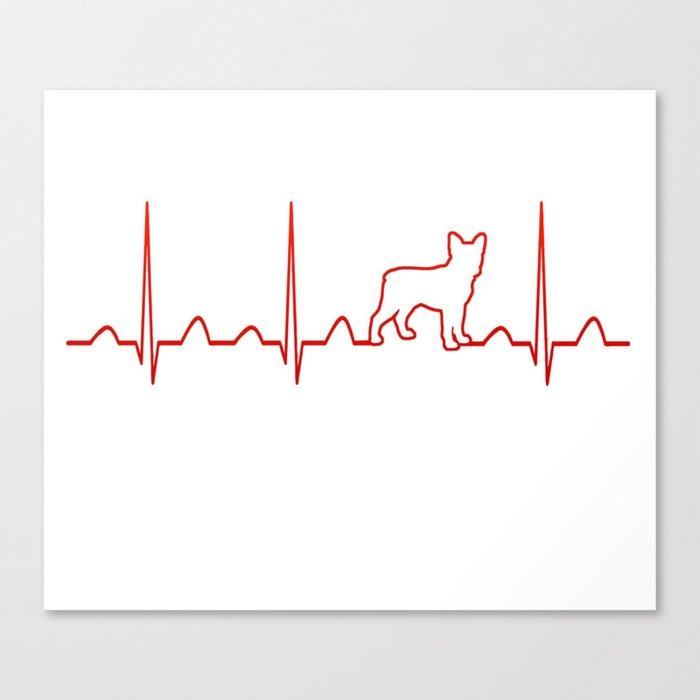 Boston Terrier Heartbeat Leinwanddruck