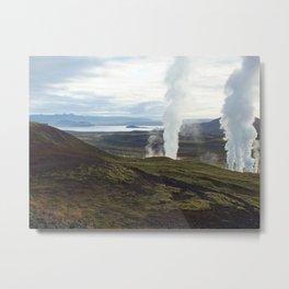Natural Combustion Metal Print