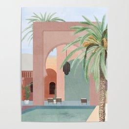 Moroccan Pool Poster