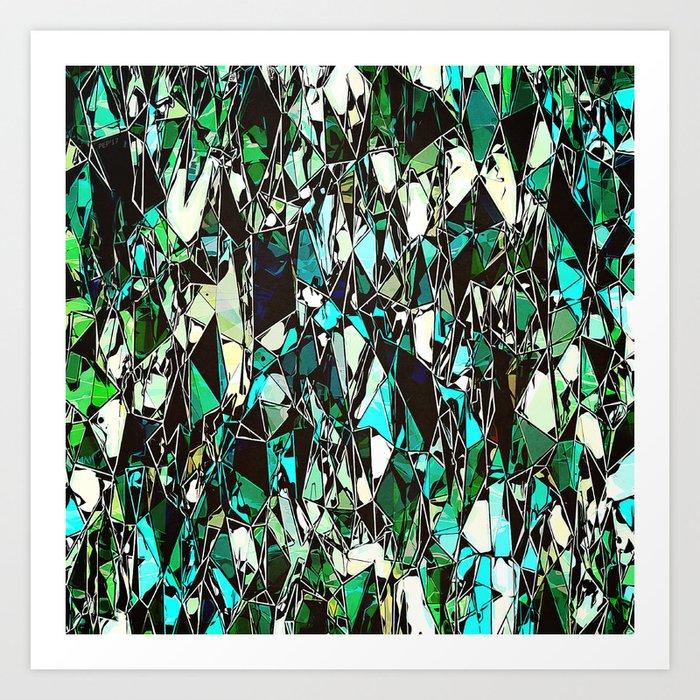 Abstract Geometric Configuration Art Print
