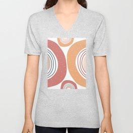 Burnt rainbow pattern Unisex V-Neck
