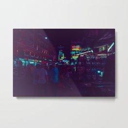Market / Bladerunner Vibes / Bangkok Metal Print