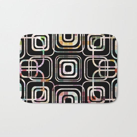 Colorful cube ring Bath Mat