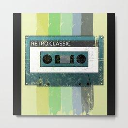 Cassette Retro Metal Print