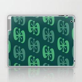 Starburst Bell Peppers Dark Green Laptop & iPad Skin