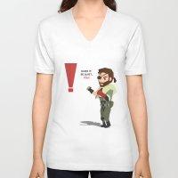 metal gear solid V-neck T-shirts featuring Metal Gear Solid Venom Snake by Eduardo Cibrián