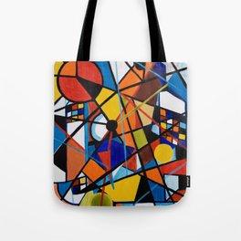 Lines and Circles Tote Bag