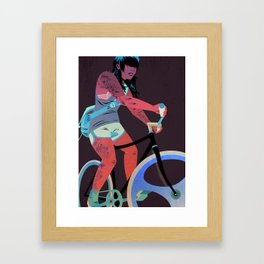 Bicycles & Tattoos (4) Framed Art Print