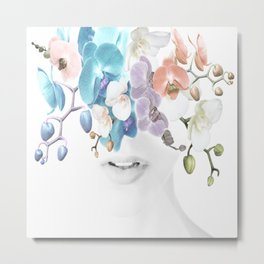 Lady Orchid Metal Print