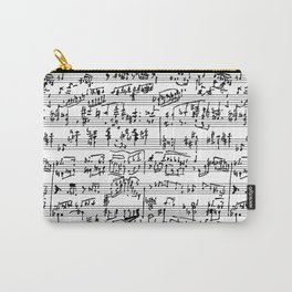 Handwritten Sheet Music Carry-All Pouch