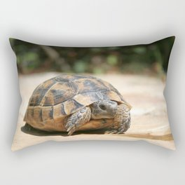 Young Tortoise Emerging From Its Shell Rectangular Pillow