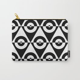 Black & White Checkered Triangle & Circles 60's Two Tone Ska Pattern Carry-All Pouch