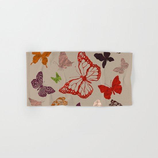 Autumn butterfly neutral Hand & Bath Towel