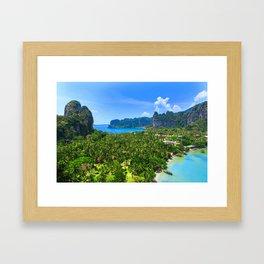 Palm Tree Tropical Thailand Island Bay Framed Art Print