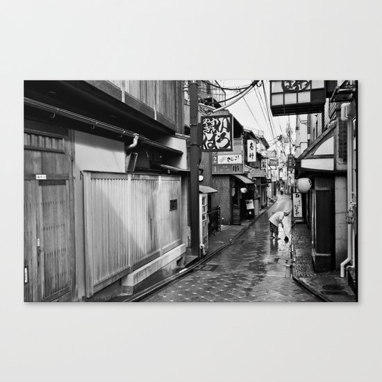 Pontocho in the Morning, Kyoto Canvas Print
