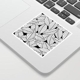Leaves in Black Sticker