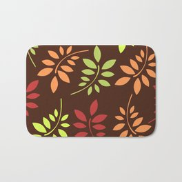 Abstract Leaves 3 Bath Mat
