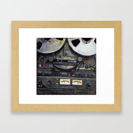 Reel to Reel Tape Machine Framed Art Print