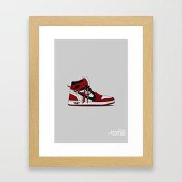 """Off White """"Air Jordan 1"""" Framed Art Print"""