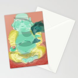 happy buddha Stationery Cards
