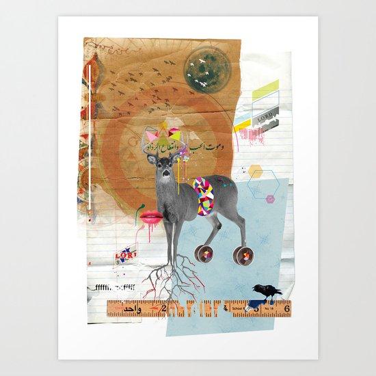 Oh Deer! Art Print