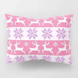 Watercolour Fair Isle in Pink & Purple Pillow Sham