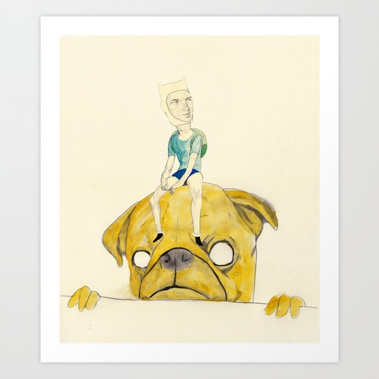 Finn and Jake Art Print