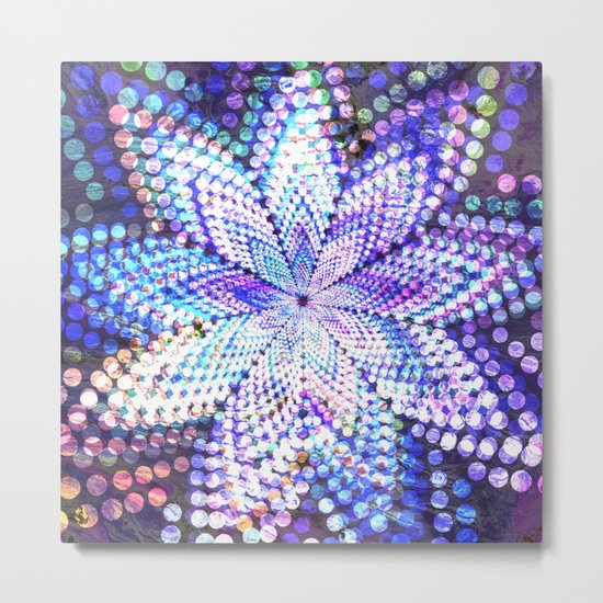 Flower Energy Bokeh Lights Metal Print