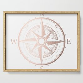 Rose Gold Compass Serving Tray