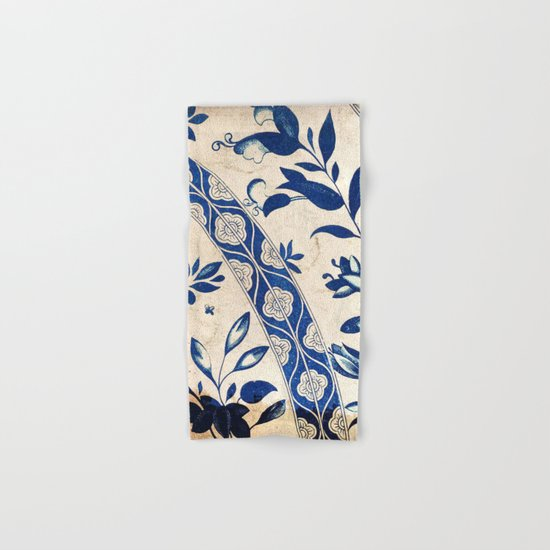 Blue Oriental Vintage Tile 04 Hand & Bath Towel