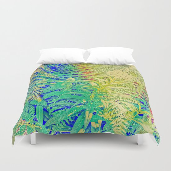 Fern and Fireweed 01 Duvet Cover