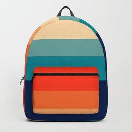 7 Colorful Retro Summer Stripes Bamola Backpack